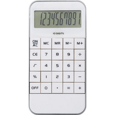 Picture of Mobile phone shaped ten digit calculator