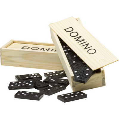 Picture of Domino game in a wooden box