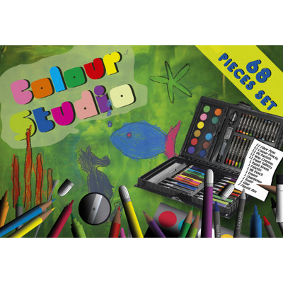Picture of Artists set, pencil, crayon, paint, text