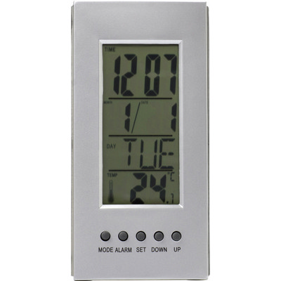 Picture of Desk clock with thermometer