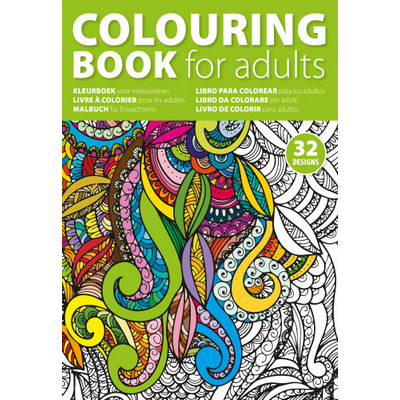 Picture of A4 Adults colouring book.