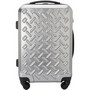 PCABS matt silver trolleyluggage