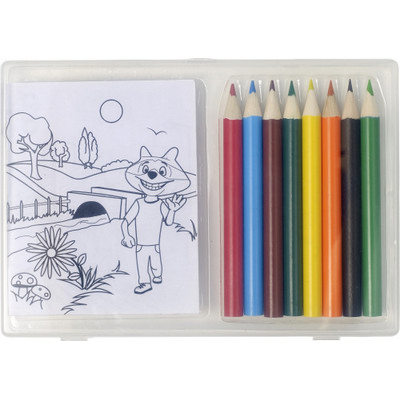 Picture of Set of colouring pencils andcolouring sh