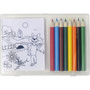 Set of colouring pencils andcolouring sh