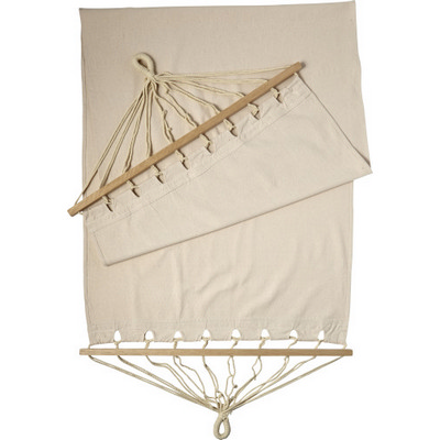 Picture of Polyster canvas hammock with wooden rims