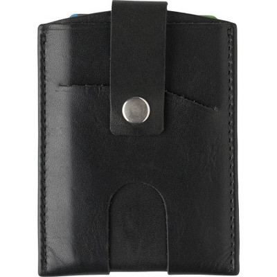 Picture of Split leather RFID credit card wallet, t