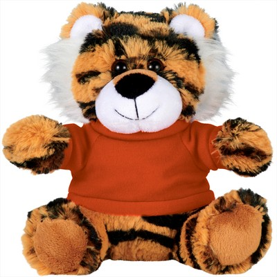 Picture of 6     Tiger Plush Animal with Shirt