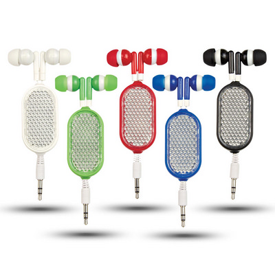 Picture of Retractable Reflective Earbuds