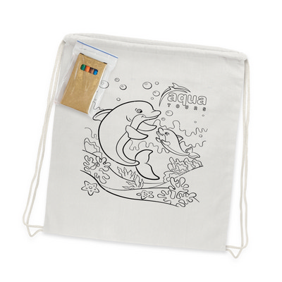 Picture of Cotton Colouring Drawstring Backpack