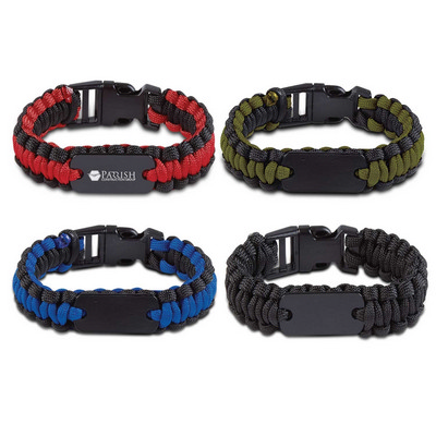 Picture of Paracord Bracelet With Metal Plate