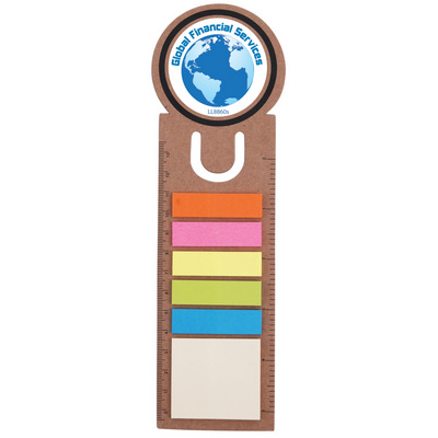 Picture of Circle Bookmark  Ruler with Noteflags