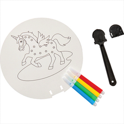 Picture of Coloring Paper Fan Set
