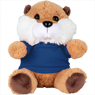 Picture of 6     Beaver Plush Animal with Shirt