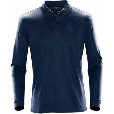 Picture of Mens Eclipse Pique LS Polo