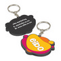 PVC Key Ring Small - One Side Moulded