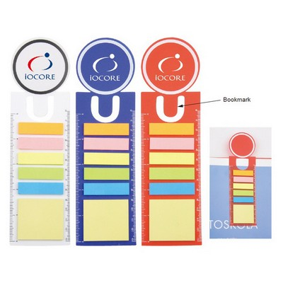 Picture of PP Sticky Notes with Bookmark & Ruler