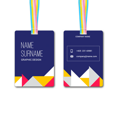 Picture of Large Unique Printed Name Tag (90 x 130