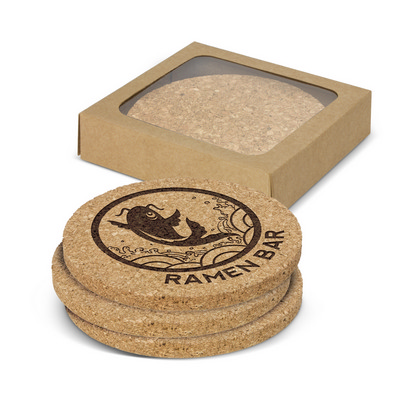 Picture of Oakridge Cork Coaster Round Set of 4