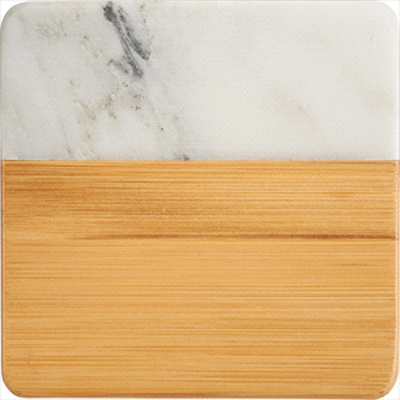 Picture of Marble and Bamboo Coaster