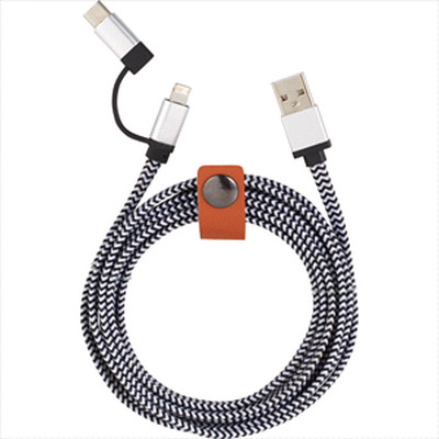 Picture of Paramount 3-in-1 Fabric Charging Cable