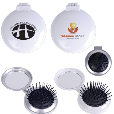 Picture of Compact Pop Up Brush  Mirror Set