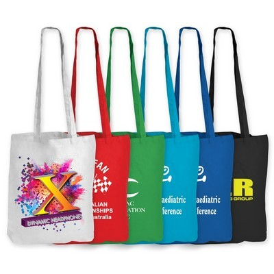 Picture of Coloured Cotton Double Long Handle Bag -