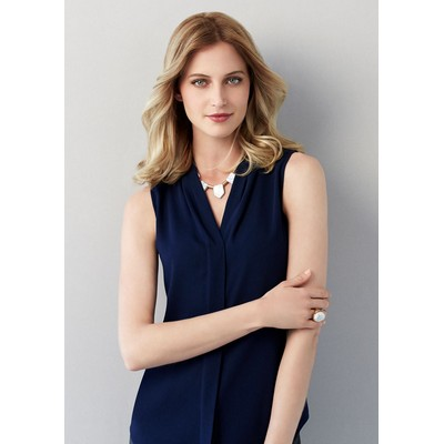 Picture of Madison Ladies Sleeveless Blouse