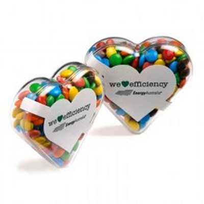 Picture of Acrylic Heart Filled With Mini M&Ms 50G