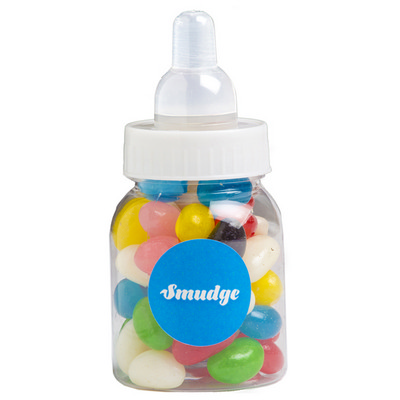 Picture of Baby Bottle Filled with Jelly Beans Copy