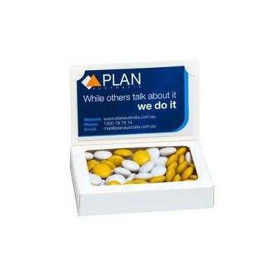 Picture of Bizcard Box with Choc Beans 50g - Sticke