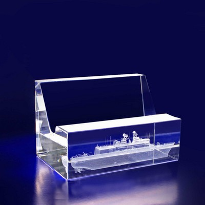 Picture of 3D Crystal Business Card Holder