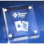 3D Crystal glass drink coaster