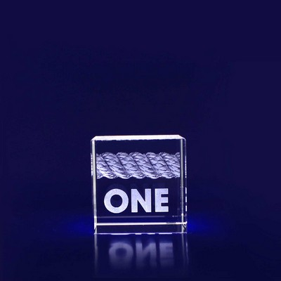 Picture of 3D Crystal Cube award / gift