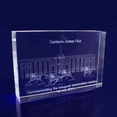 Picture of 3D Crystal Rectangle Thin award / trophy