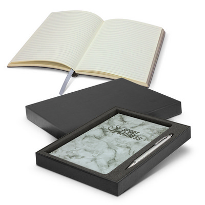 Picture of Marble Notebook and Pen Gift Set
