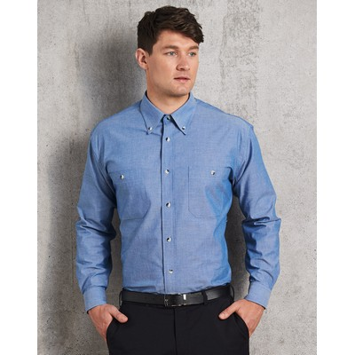 Picture of Mens Chambray Long Sleeve