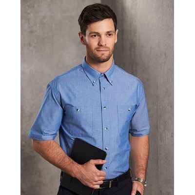 Picture of Mens Chambray Short Sleeve