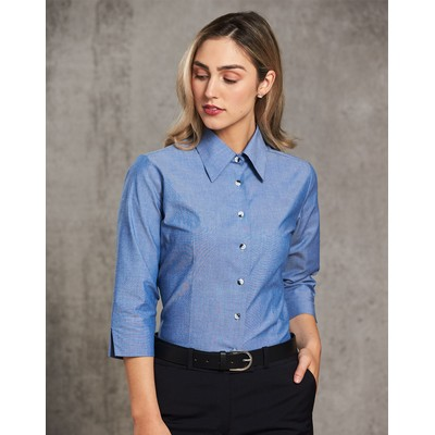 Picture of Ladies Chambray 34 Sleeve