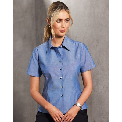 Picture of Ladies Chambray Short Sleeve