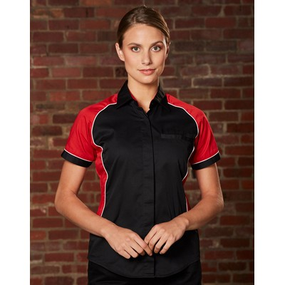 Picture of Women Arena Tri-Colour Contrast Shirt