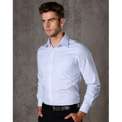Picture of Mens Fine Stripe Long Sleeve Shirt