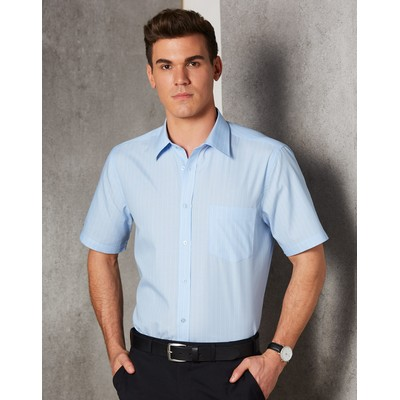 Picture of Mens Pin Stripe Short Sleeve Shirt