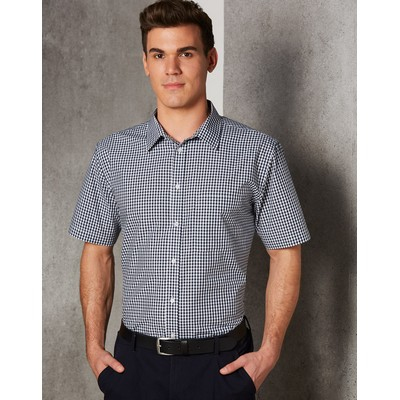Picture of MenS Gingham Check Short Sleeve Shirt