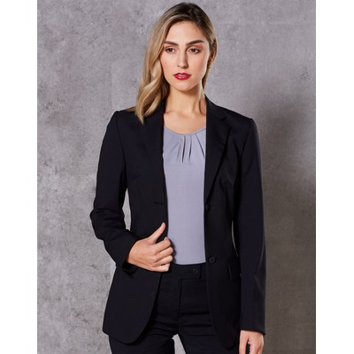 Picture of WomenS Wool Blend Stretch Mid Length Jac