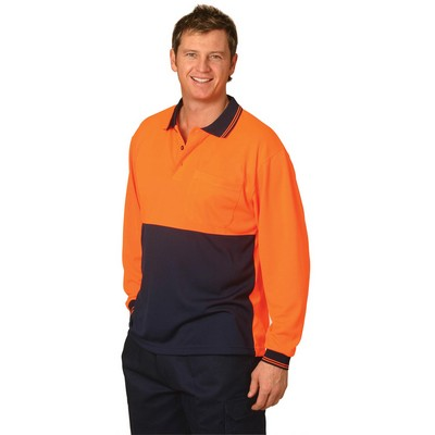 Picture of High Visibility Long Sleeve Polo