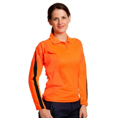 Picture of Hi-Vis Legend Long Sleeve Polo Ladies