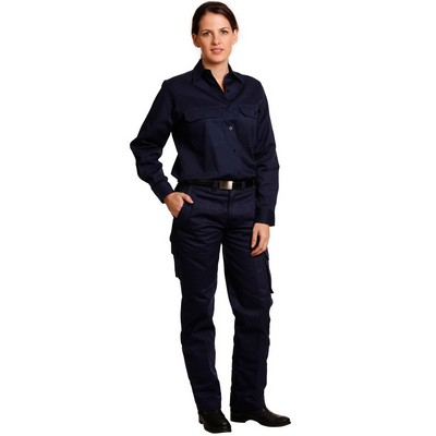 Picture of Ladies Heavy Cotton Drill Cargo Pants