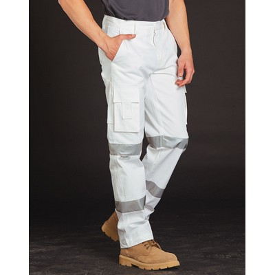 Picture of Mens White Safety Pants With Biomotion T