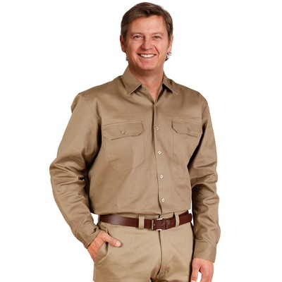 Picture of Cotton Drill Long Sleeve Work Shirt