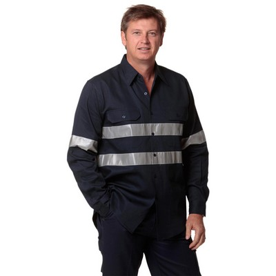 Picture of Cotton Drill Long Sleeve Work Shirt With